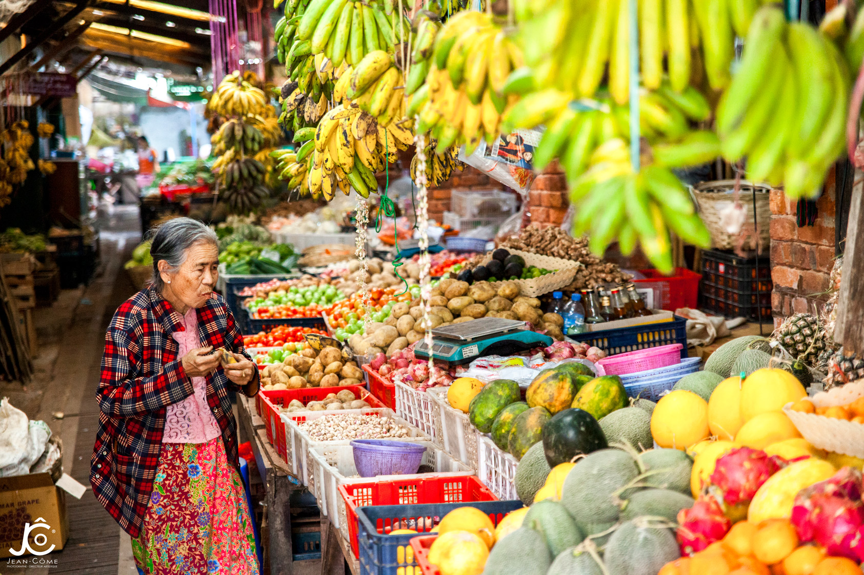 Birmane au marché de Kalaw