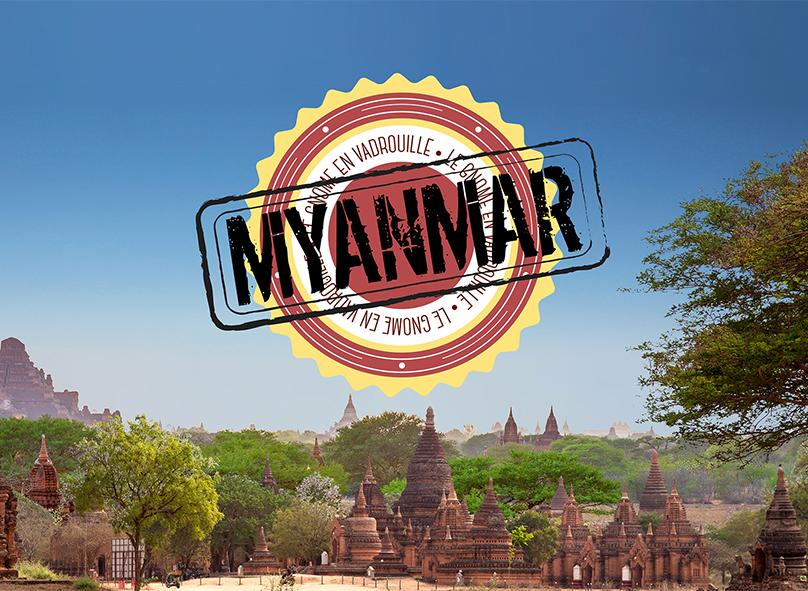 Le gnome en vadrouille au Myanmar : couverture