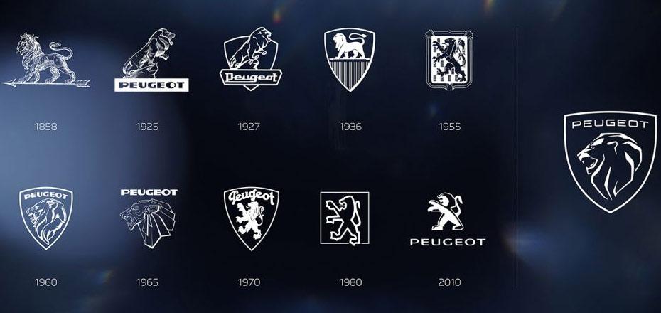 Évolution du logo Peugeot à travers les âges