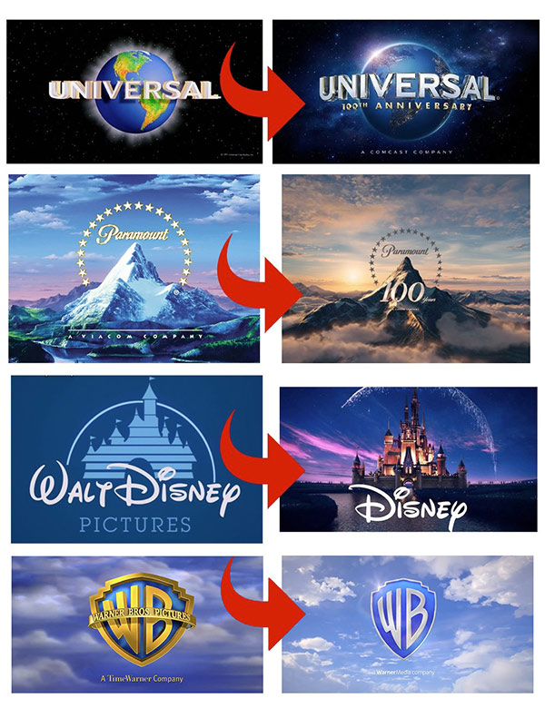 Évolution des logos des studios de cinéma